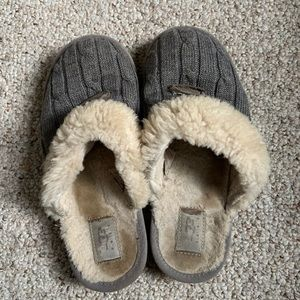 Gray UGG slippers